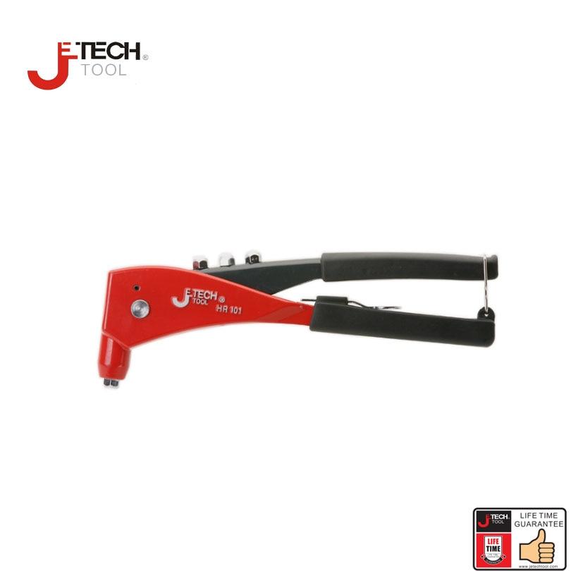 Jetech hoge kwaliteit handklinkhamer pop klinkhamer pistool kit blindklinknagel goot handgereedschap heavy duty voor 4,8 mm tot 3/16 DIA. klinknagel