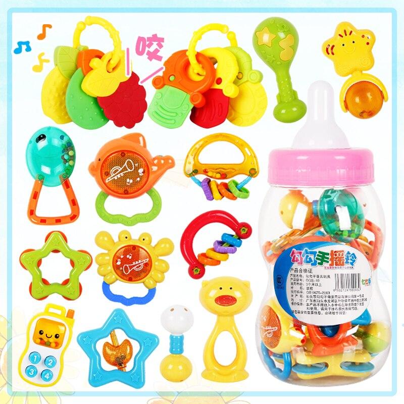 935a1f4b7226 Eco juguetes para bebés niños campana mordedores mano establece 3 6 12 meses  recién nacido bebé de juguete para niños regalos conjuntos campanas  teechers 13 ...