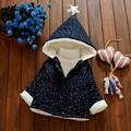 Nueva Chaqueta Del Bebé de Espesor Encapuchados Niñas Abrigo Manteau Ropa Bebe Bebé 7BBC021