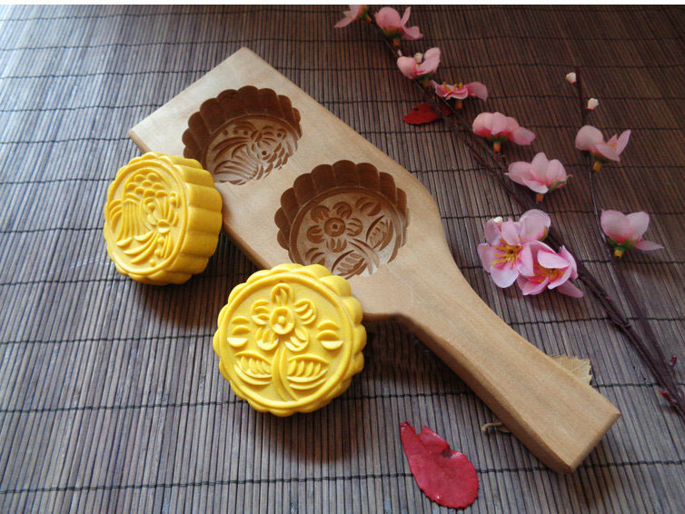 Moon Cake Making Molds Traditional Chinese Wooden Molds Fish Peach