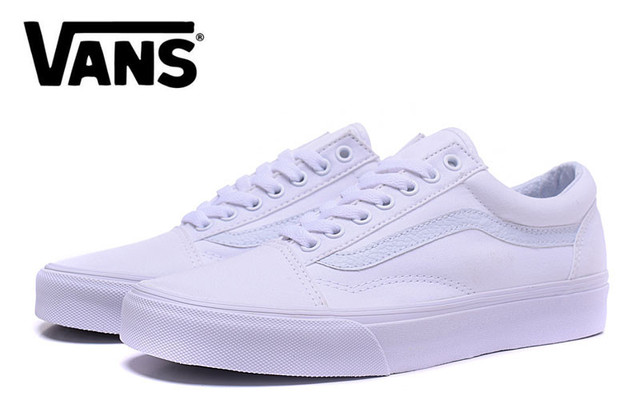 25b4c82fc7cd Free Shipping vans classic old skool all white low to help Men s canvas  shoes