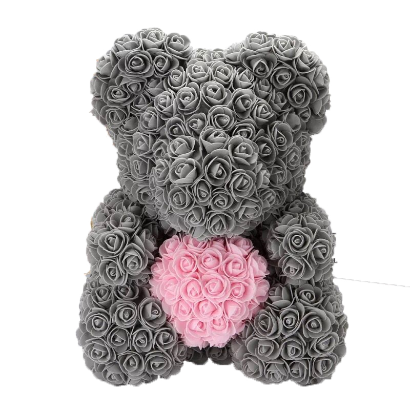 Image 5 - DropShipping 40cm Rose Bear Heart  Artificial Flower Rose Teddy Bear For Women Valentine's Wedding Birthday Christmas Gift-in Artificial & Dried Flowers from Home & Garden