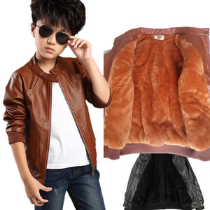 Image 2 - Brand Fashion Winter Child Coat Waterproof Heavyweight Baby Girls Boys Leather Jackets Children Outerwear Kids Outfits For 90 165cm