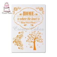 Doce casa estênceis para paredes pintura scrapbooking selo álbum decorativo gravação diy artesanato cartão de papel modelo de flor