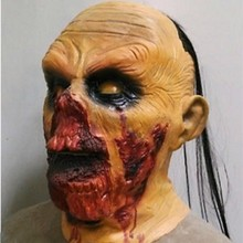 Halloween Fancy Dress Costume Scary Zombie  Latex Mens Mask