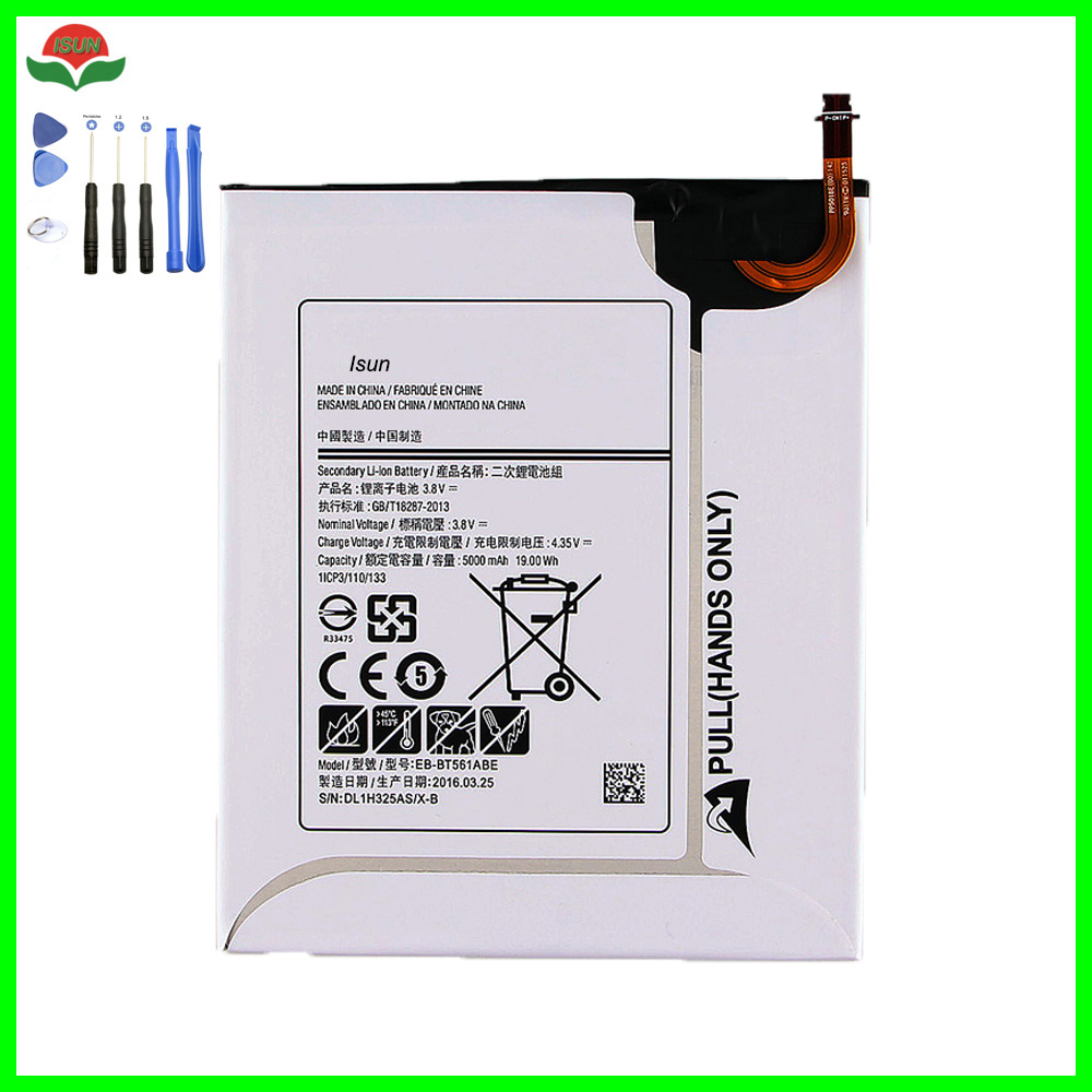 Original Quality 5000mAh Replacement Battery EB-BT561ABE For Samsung GALAXY Tab E T560 T561 SM-T560 Tablet Battery +free tools
