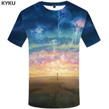 KYKU Fish 3d T Shirt Men Animal T-shirt Carp Tropical Ocean Print T-shirt Funny T Shirts Summer Hip Hop Mens Clothing Streetwear ocean road t shirt