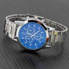 New Men Fashion Watch Hot Brand Casual Luxury Full Stainless Steel Quartz WristWatch Clock Masculino black white Relojes