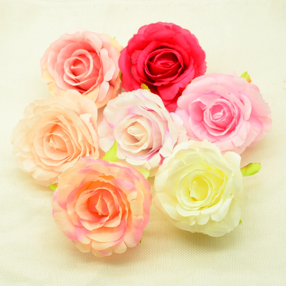 Wedding Flowers Cheap Online: 9CM Artificial Flowers Cheap For Home Wedding Decor