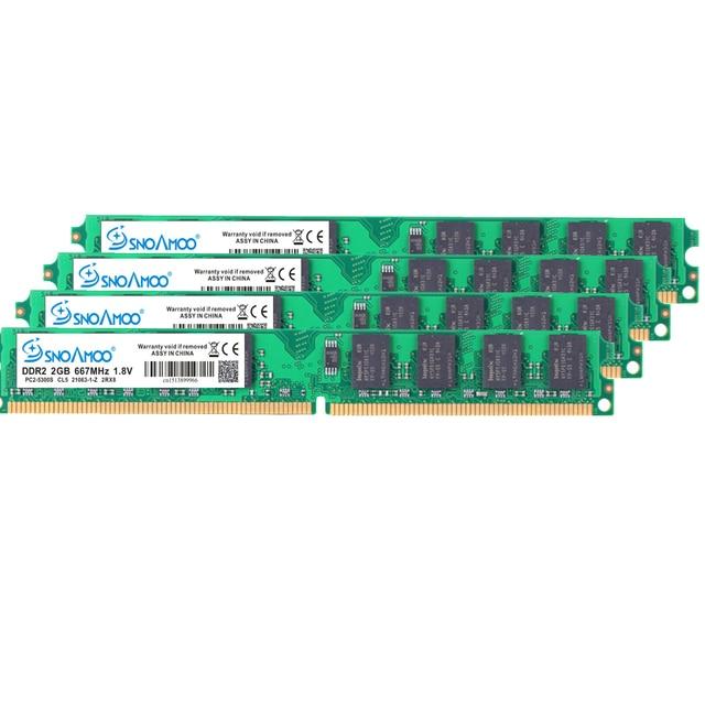 SNOAMOO Настольный ПК RAMs DDR2 4 Гб (2x2 Гб) 800 МГц PC2-6400S 240-Pin 1,8 в DIMM для intel и AMD совместимый компьютер памяти гарантия 4