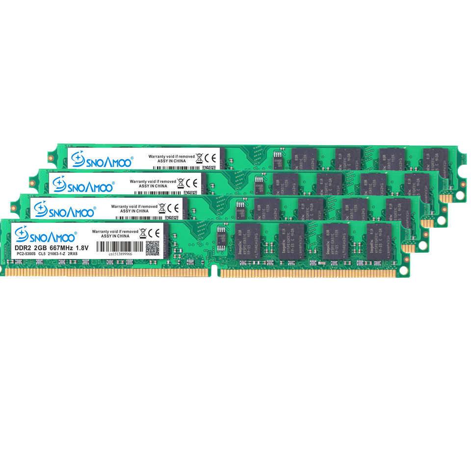 Snoamoo 데스크탑 pc ram ddr2 4 gb (2x2 gb) 800 mhz PC2-6400S 240 핀 1.8 v dimm intel 및 amd 호환 컴퓨터 메모리 보증
