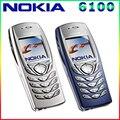 Teléfono celular gsm desbloqueado tribanda restaurado original nokia 6100 mobile 6100 teléfono móvil barato envío gratis