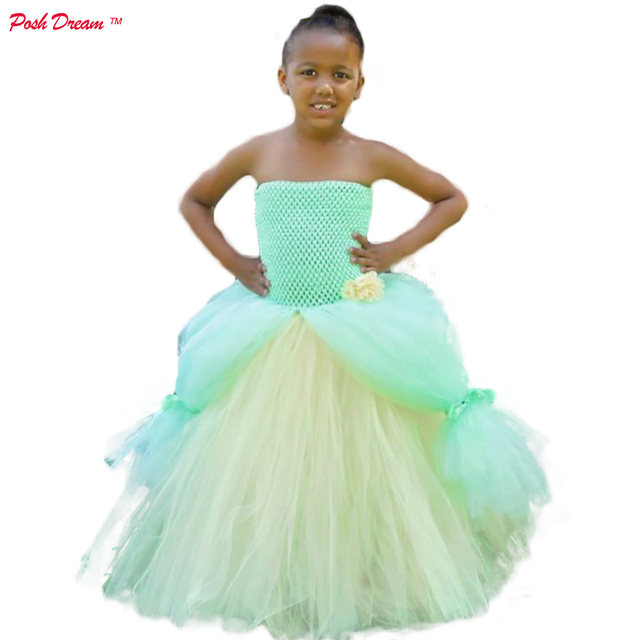 Posh Dream Princess The Frog Tiana Inspired Costume S Tutu Dress Mint Green Kids