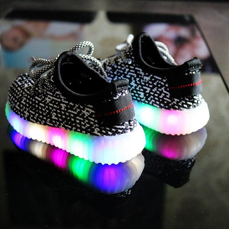9e65150df57fc2 2018 Luminous Shoes Girl Led Children Mesh Light Up Shoes Lights ...