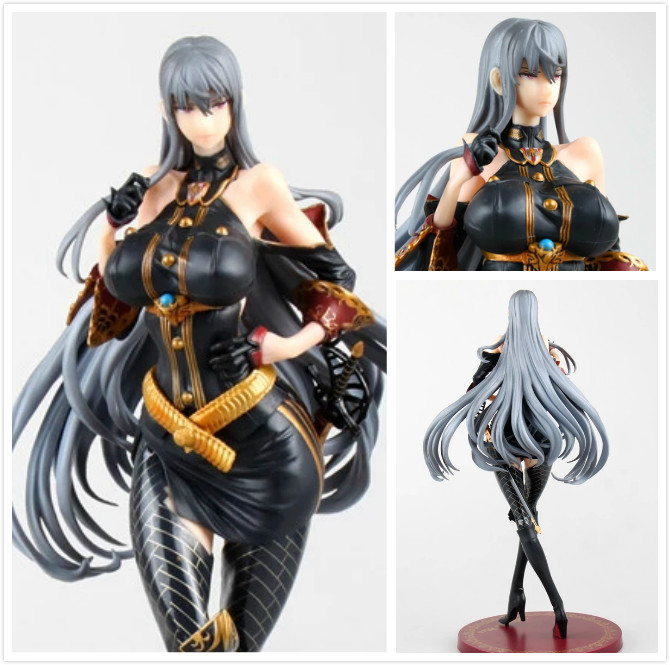 28cm 11 Japnese online sexy Game Valkyria Chronicles - Selvaria Bles 1/7  PVC Action Figure Collection Model Doll Toy Gift r12 sexy game