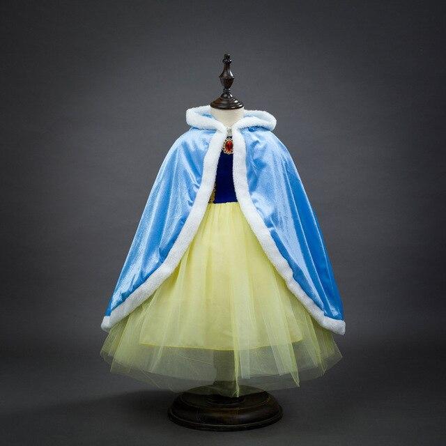 Мода принцесса эльза анна хеллоуин костюм для 6 лет до 10 лет дети день рождения накидки девушки