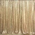 Матовое Золото Блесток Фон 4ftx7ft (120 см х 210 см) 2017 Новая Мода Свадьба Блесток Фон Занавес 3 мм Блесток Ткань для Свадьбы