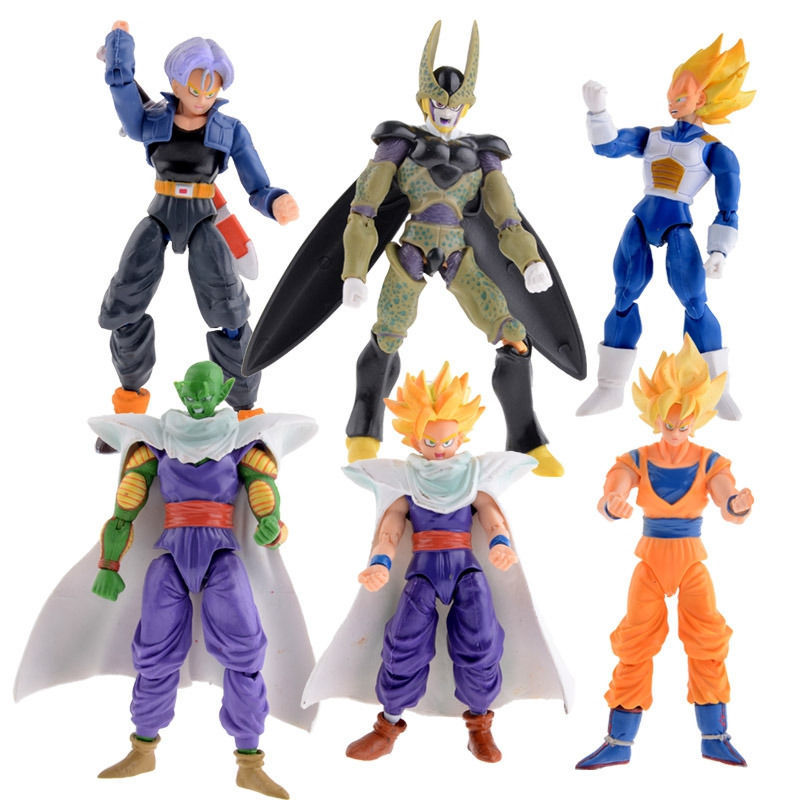 aliexpresscom buy new dragonball z dragon ball dbz anime joint movable action figure toy 6 pcs set from reliable toy sports figures suppliers on only