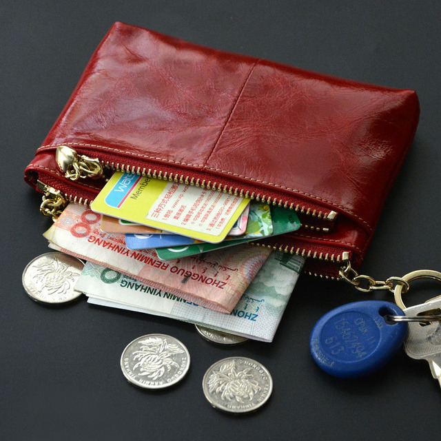 2017  Women's Coin Purse Genuine Leather Wallets Cowhide Ladies Clutch Bag 100% Genuine Leather Key Wallets women Clutch Bag