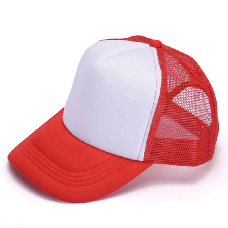 65fa1e0a ... Women DIY Plain Mesh Back Foam Trucker Cap Summer Mens Driver Hats  Black Navy Pink Red ...