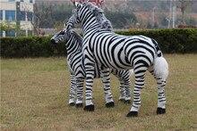 big creative simulaiton zebra toy plush huge zebra model doll gift doll about 110x90cm