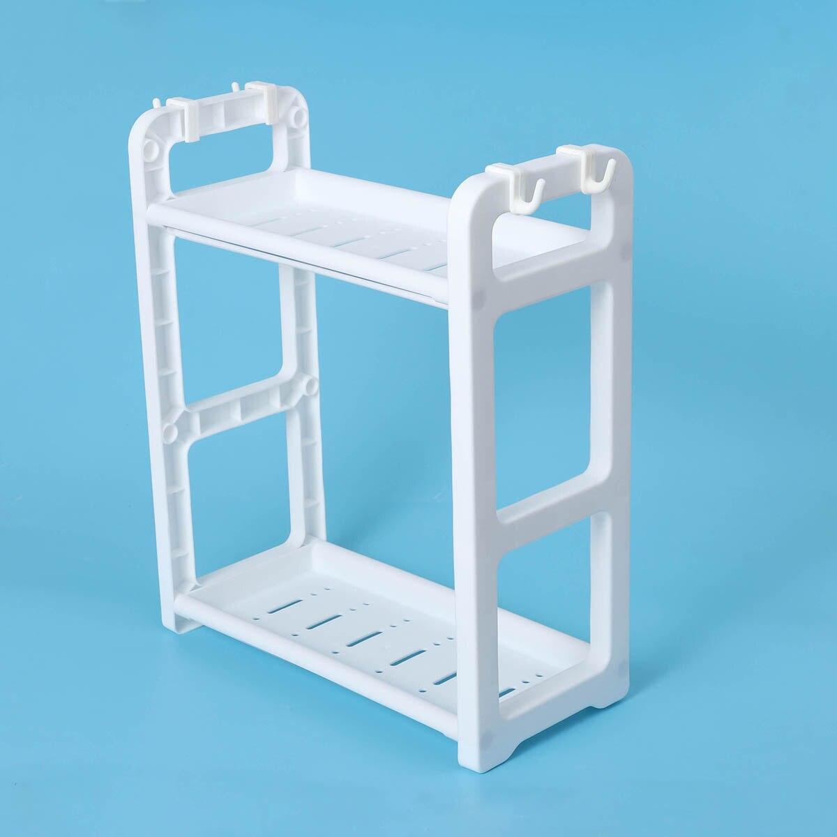 2 Tier Table Standing Rack Kitchen Bathroom Shelf Countertop Storage ...