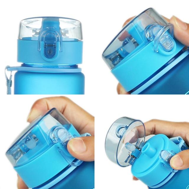 CURGE Flip Top Lid Direct Drinking Plastic water bottle 400ml 560ml #1107 5