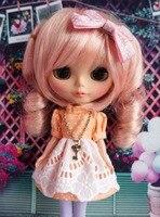 Cute Blyth Doll Dress Lolita Pullip Outfit Orange Handmade Azone