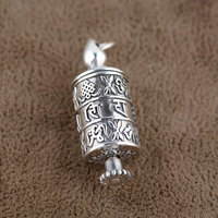 FNJ 925 Silver Bottle Box Pendant Buddha 100% Pure S925 Solid Thai Silver Pendants for Women Men Jewelry Making