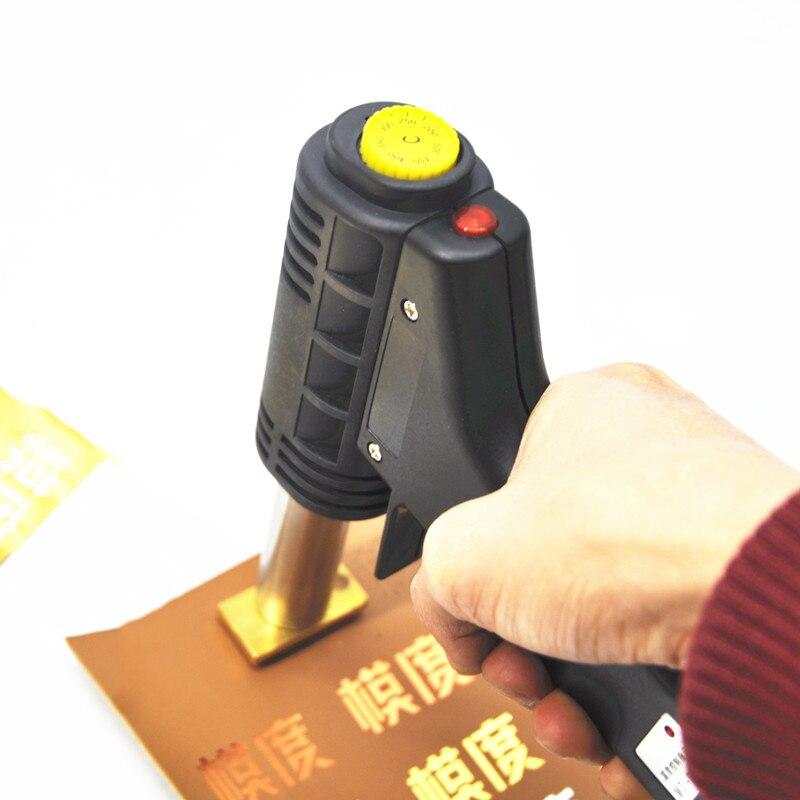 Handheld Hot Stamping Machine 3*6cm Small PU Leather Press Machine Cake Logo Press Machine 300W Printing Machine