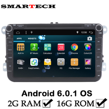 FreeShipping VW 2 GB RAM Android 6 Auto DVD-Player für Volkswagen Polo golf 5 Jetta Tiguan Passat B6 5 cc für Skoda Octavia