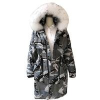 Winter new camouflage Winter Nagymaros collar Fashion Casual Parkas Coats Women Hooded Jacket Thickening Parkas Safari Style