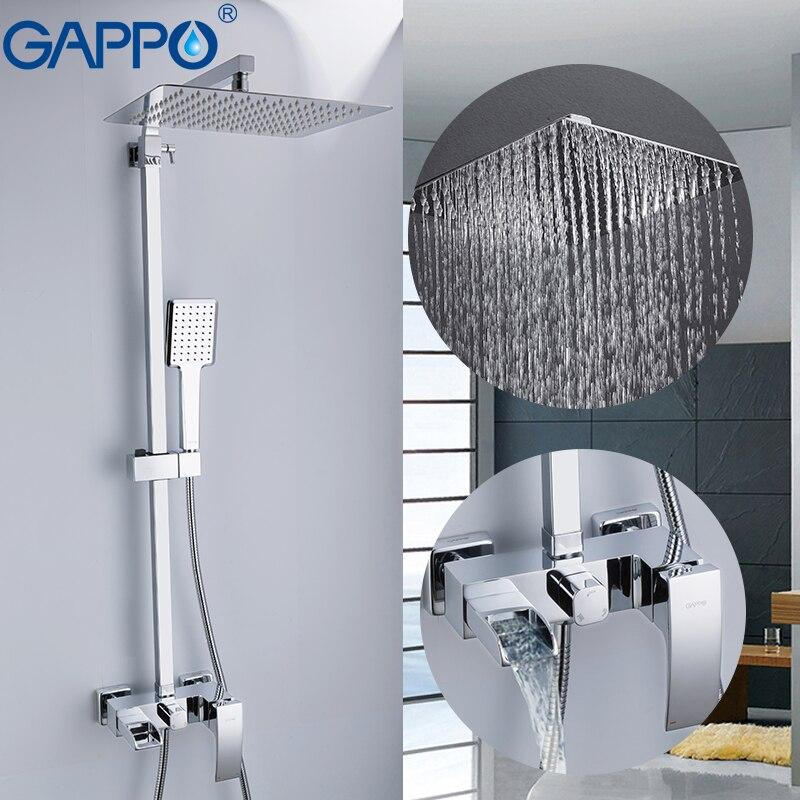 GAPPO Shower Faucets bathroom shower faucet bath shower mixer faucet taps rain shower sets waterfall bath faucet mixer taps-in Shower Faucets from Home Improvement    2