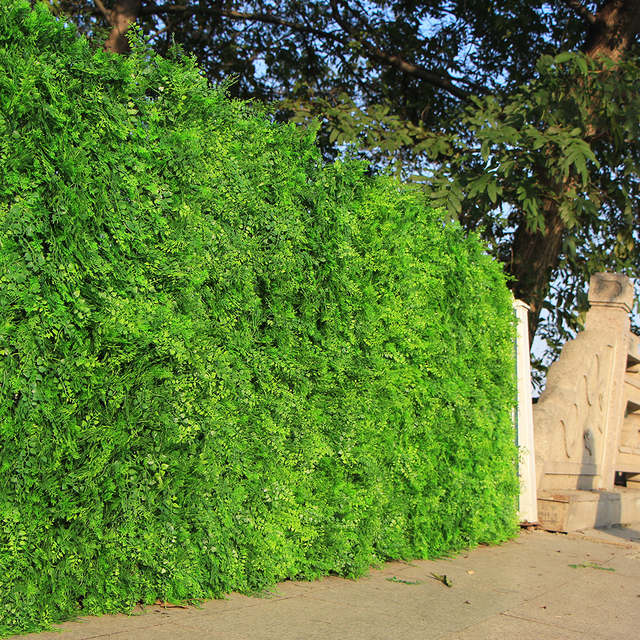 "Outdoor Artificial Boxwood Ivy Hedge Privacy Fence Wall 10""X10"" UV Proof Grass Mats Plastic Plants for Decoration Garden Indoor"