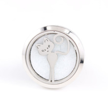 Wholesale 30mm Silver Screw 316L Stainless Steel Diffuser Car Locket Aromatherapy Essential Oil