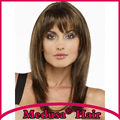 Medusa hair products: Free shipping Synthetic pastel wigs for women Modern Long straight Mix color Mono wig with bangs SW0602