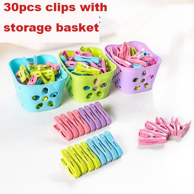 Multi function Clothes clip with small plastic storage basket strong windproof underwear socks and clothes peg-in Drying Racks u0026 Nets from Home u0026 Garden on ...  sc 1 st  AliExpress.com & Multi function Clothes clip with small plastic storage basket strong ...