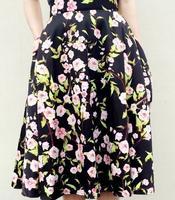2014 High Waist Women Long Puff Skirts American Apparel Neon Green Midi Pleated Maxi Spring Summer