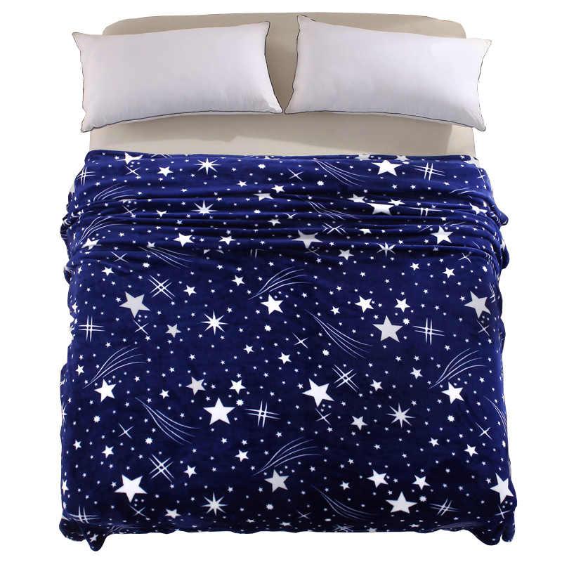 Svetanya Stars Galxy azul Cobertor de flanela de Lã sofá Lança inverno lençol gêmeo rainha rei Xadrez