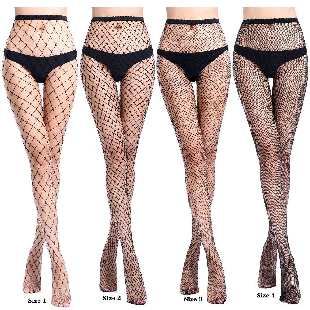 Novo sexy meias de rede de peixe médio grid mulheres collants transparente magro cintura alta meia calças de malha lingerie