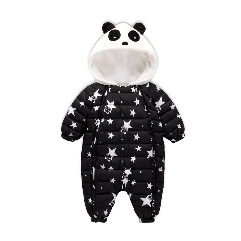 New Fashion 2017 Newborn Winter Outerwear Baby Boy Girl Rompers Cotton Padded Panda Infant Clothes Thickening Jumpsuit newborn baby rompers baby clothing 100% cotton infant jumpsuit ropa bebe long sleeve girl boys rompers costumes baby romper