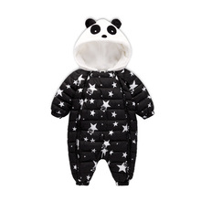 New Fashion 2017 Newborn Winter Outerwear Baby Boy Girl Rompers Cotton Padded Panda Infant Clothes Thickening Jumpsuit