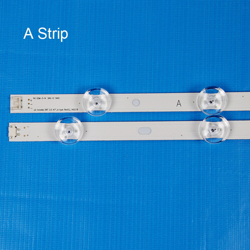 8 Piece/Set LED Backlight Strip For LG 47LB631V 47LB630V 47LB631V ZL 47LB630V ZA 47 inch TV Backlight LED Bands Bars Lamps Strip-in Shell & Body Parts from Consumer Electronics    2