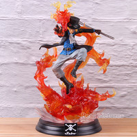 One Piece P.O.P XL Sabo Motion Ability Statue Figure PVC Big Size Sabo One Piece Portrait Of Pirates Collectible Model Toy
