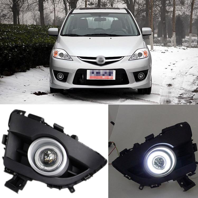 Ownsun превосходным 55W галогенные лампы cob Противотуманные фонари Источник Ангел глаз бампер для Mazda 5 2008-2010