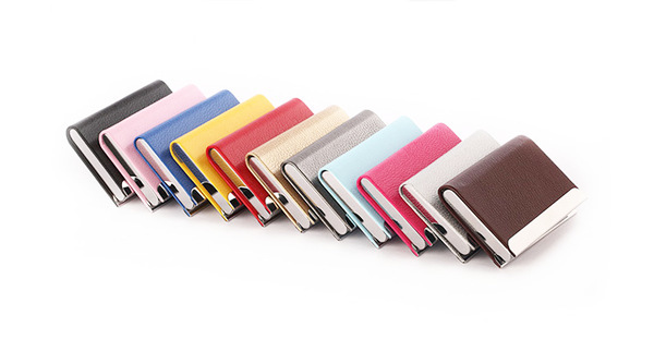 metal business card cases stainless steel lanyard key card holder visit business leather credit holder for - Business Card Cases