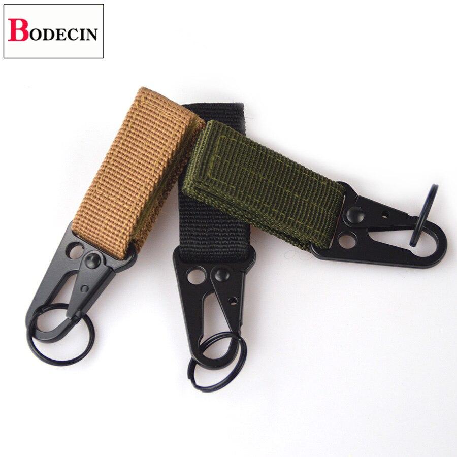 Outdoor Tools EDC Gear Camping Tactical Nylon Belt Clip Keychain Snap Hooks Bushcraft Molle Webbing Buckle Carabiner For Keys (7)