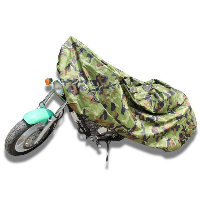 XXXL Jungle Wood Camouflage Motorcycle Cover Weatherproof Dust Cover Protector Outdoor For 400CC-1100CC Motor Bike Sportster 3XL