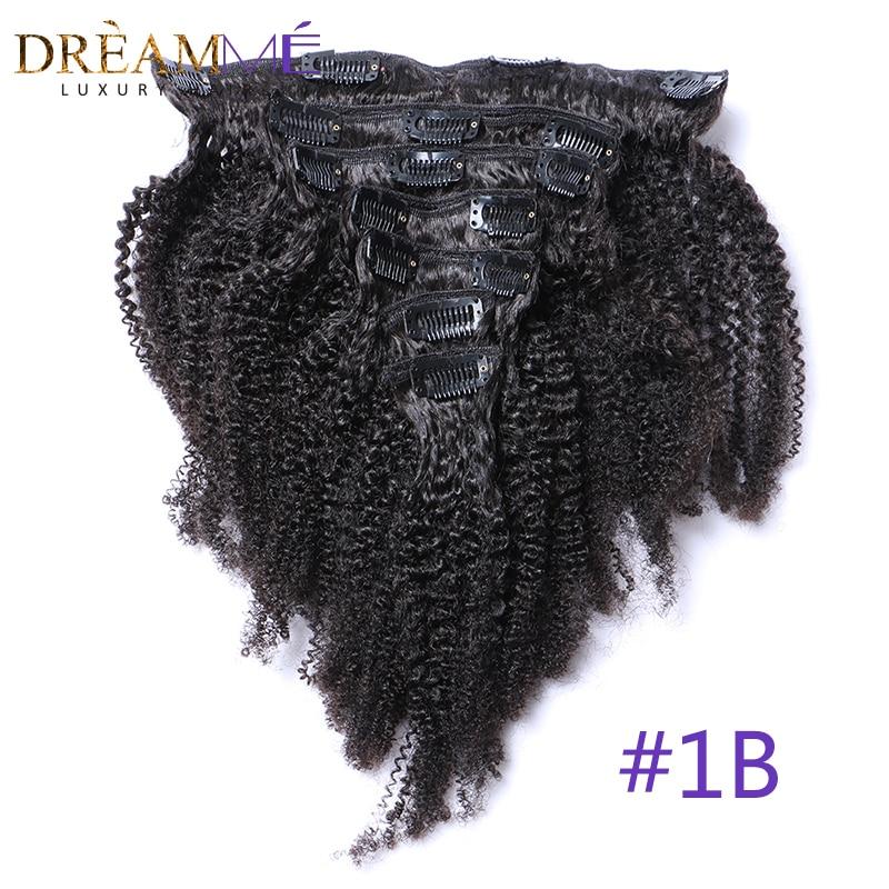 Бразилски афро Kinky къдрава клип в - Човешка коса (за бяло) - Снимка 3