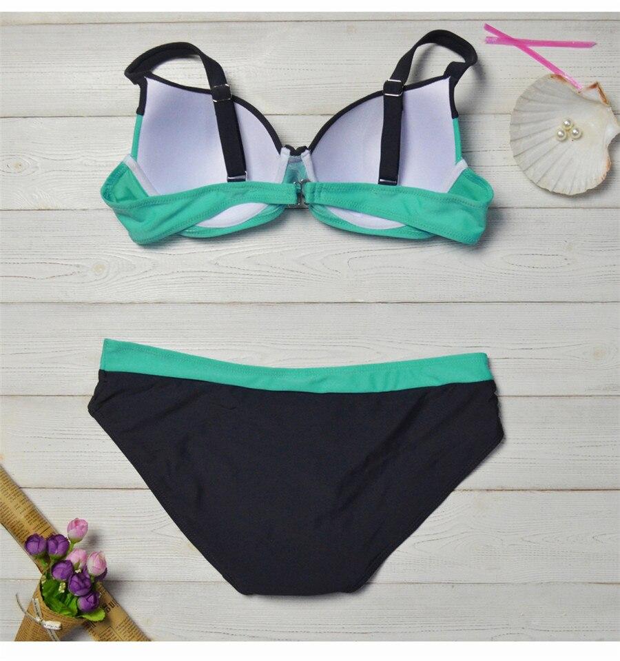 HTB1y8Tps29TBuNjy0Fcq6zeiFXaB bikini swimwear women 2018 sexy bikini set push up swimsuit female two piece swimsuit women halter yellow bikini girl beach wear